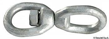 Girella in acciaio zincato per catena d'ancora e gavitello