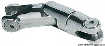 Attacco girevole inox 2 snodi 6/8 mm