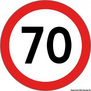 Segnale velocità omologato adesivo 70 Km/h