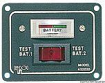 Pannello- test per 2 batterie con interruttore per azionarlo