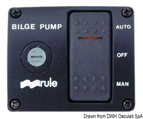 Interruttore Rule DeLux 12 V