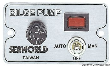 Pannello di controllo manuale per pompe di sentina elettriche