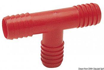 Raccordo a T in Nylon per tubazioni acqua