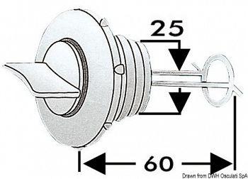 Tappo scarico nylon 25 mm