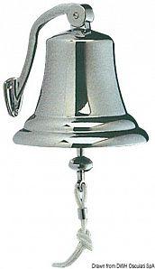 Campana ottone cromato 150 mm