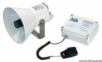 Tromba MARCO elettronica con amplificatore per imbarcazioni dai 12 ai 20 metri
