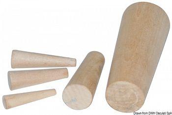 Serie di 10 coni in legno 8-38 mm