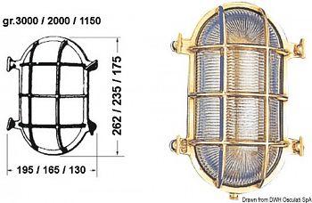 Lampada tartaruga ovale 130 x 175 mm
