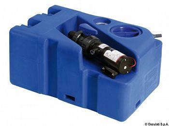 Serbatoio acque nere 50 lt con maceratore 12V