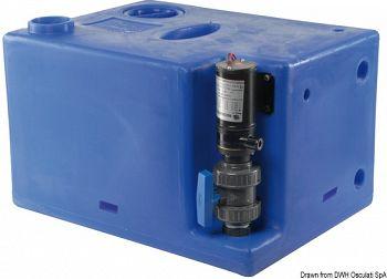 Serbatoio acque nere con maceratore incorporato