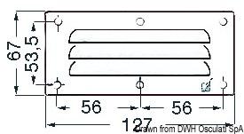 Griglia areazione inox 67 x 127 mm
