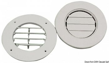 Griglia ABS bianco 163 mm